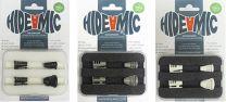 HIDE-A-MIC POUR SANKEN COS11, 4 PACK, BLACK